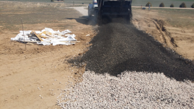 Recycled Concrete Rock with asphalt overlay